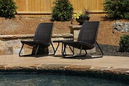 Patio Chairs and table Garden Seating Furniture Set Pool Lou