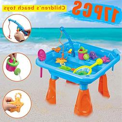 XuBa Kids Outdoor Pirate Ship Sand & Fish Water Table Childr