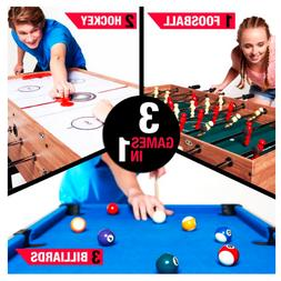 Pool Hockey Foosball Combo 3 In 1 Game Table with Accessorie
