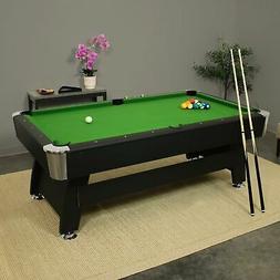 Sunnydaze 7-Foot Pool Table with Ball Return, Triangle, Ball