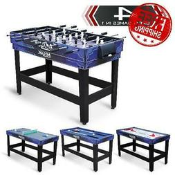 Pool Table 4-in-1 Combo 54 Inch Billiards Hockey Tennis Foos