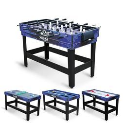 Pool Table 4 in 1 Combo Billiards Hockey Tennis Foosball Mul