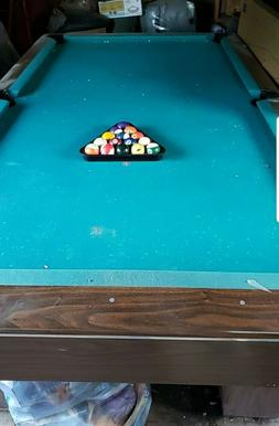 Pool table 8 foot by 4 in good condition, green felt with ra