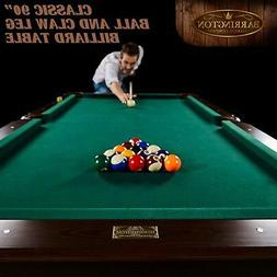 pool table 90 billiard tables cues rack