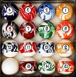 Billiard Pool Table Accessory Kit W/ Swirl Marble Style Ball
