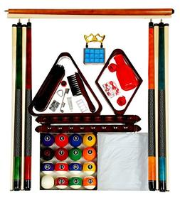 Billiard Pool Table Accessory Kit W/ Modern Style Ball Set M