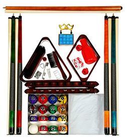 Billiard Pool Table Accessory Kit W/ Dark Marble - Swirl Sty