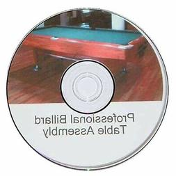 Pool Table Assembly and Refelting Instructions on DVD