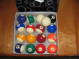 Iszy Billiards Pool Table Ball Set, New With extra que ball