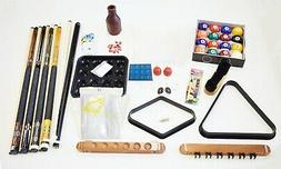 Pool Table Best Deluxe Billiard Accessory Kit Pool Cue Stick