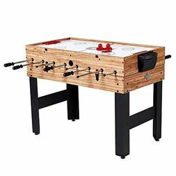 Pool Table Combo Billiards Hockey Foosball Sturdy Game Kids