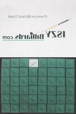 Premium Pool Table Billiard Cue Chalk 72 Pieces Green