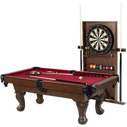 POOL TABLE DARTBOARD COMBO SET Billiard Game Set with Access