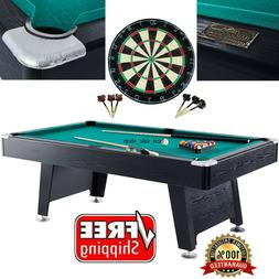 Pool Table Game Room 84-inch Billiard Balls Cues Table With