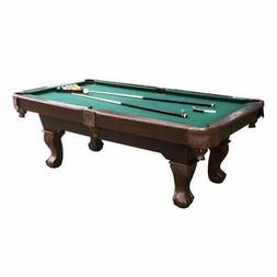 Pool Table Game Room 7.5 Ft Accessories Bonus Cue Rack & Dar
