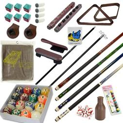 Pool Table - Premium Billiard 32 Pieces Accessory Kit - Pool