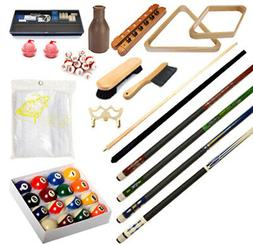Pool Table - Premium Billiard Accessory Kit - Pool Cue Stick