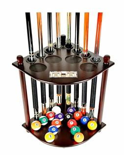 Pool Table Rack Supplies Cue Balls Stick Holder Chalk Billia