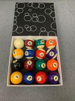 Hathaway Pool Table Regulation Billiard Ball Set True Roll B