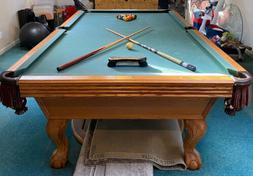 Olhausen Pool Table - Solid Oak - Full Size
