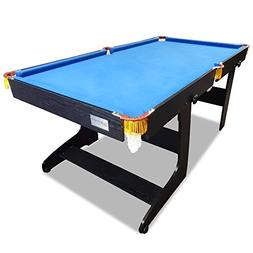 T&R sports 6 FT Pool Table Timber MDF Foldable Billiard Tabl