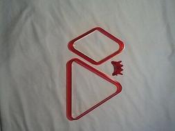 Pool table triangle set