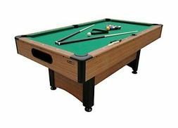 Pool table with automatic ball return levelers and nylon sue