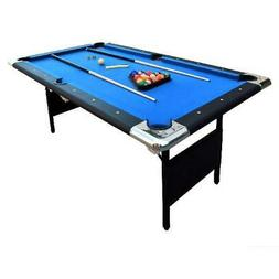 Portable Pool Table Folding Billiard Balls Cues Chalk Brush