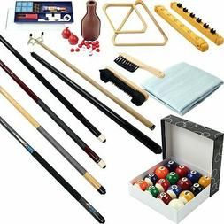 Premium 32-piece Pool Table/Billiards Accessory Kit- Cue Sti