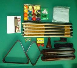 PREMIUM POOL TABLE ACCESSORY KIT INCLUDES BALL SET, CUE STIC