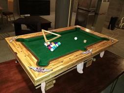 Prison art: craftstick miniature pool table. Rec Room, Kids-