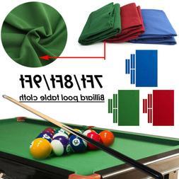 Pro Worsted Nylon Billiard Pool Table Cloth 7ft 8ft 9ft Mat