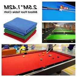 Professional 7ft/8ft Table Billiard Pool Table Cloth Felt Ma