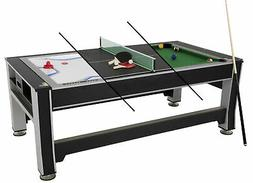 Triumph Sports 84 3-In-1 Rotating Table: Air Powered Hockey,