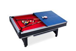 Rack Scorpius 7-Foot Billiard/Pool and Table Tennis Multi Ga