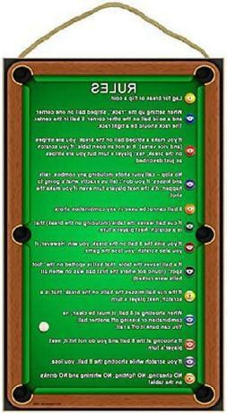 "SJT ENTERPRISES, INC. Billiards/Pool Table Rules 10"" x 16"" W"