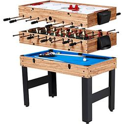 Evelove Table Game 3-In-1 Multi Combo Game Table Foosball So