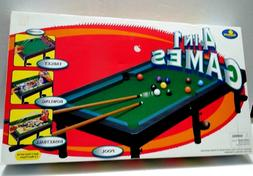 Table Top 4 in 1 Kids Games Pool, Target, Bowling and Basket