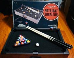 """Tabletop Billiards Mini Pool Table 20"""" x 12: x 3.5"""" Kids Gam"""