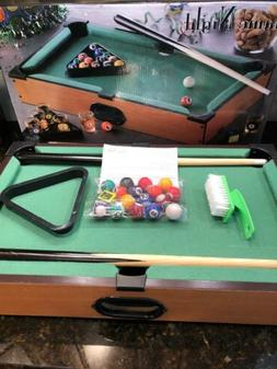 "TABLETOP ""GAME NIGHT"" POOL TABLE MINI GAME SET BILLIARDS FOR"