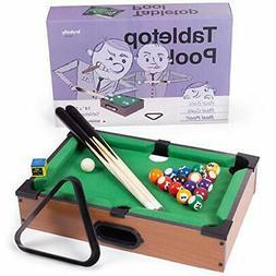Tabletop Pool, Mini Pool Table & Billiard Set   Small Bi
