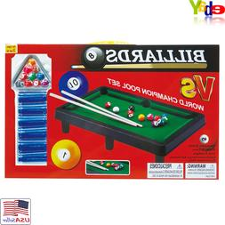 Mozlly Tabletop Pool Set Table Game Billiards Educational Ch