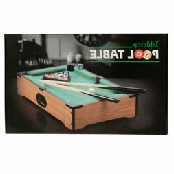 bulk buys OB444 Tabletop Pool Table, Brown, Green