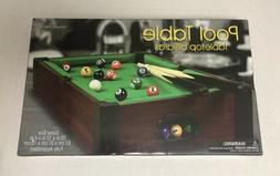 Tabletop Pool Table Mini Set Game Billiards Miniature Billia
