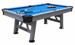 """""""THE FLORIDA"""" 7 FOOT ALL WEATHER OUTDOOR POOL TABLE ~ SILVER"""