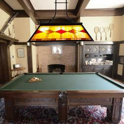 Tiffany Style 3-Light Pool Table Hanging Fixture Steel Const