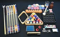 Top Pool Table Billiards Accessory Kit Pool Cue Sticks Bridg
