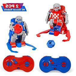le-idea Kids Toys Gift Football 2.4G rc Robot Set 2 Goals So