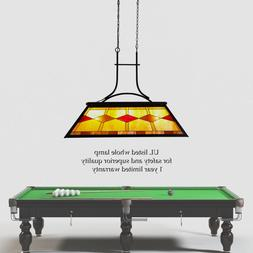 UL Listed Tiffany Style 3-Light Chandelier Pool Table Hangin
