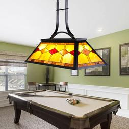 UL Listed Tiffany Style 3-Light Pool Table Hanging Fixture S
